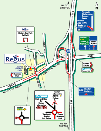 Map of The Regus Business Centre, Exeter