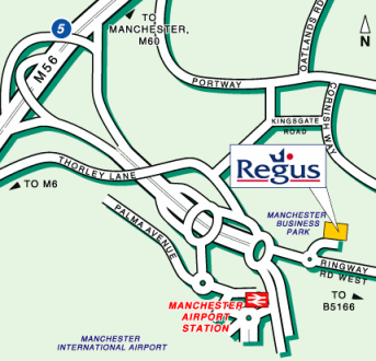 Map of The Regus Business Centre, Manchester
